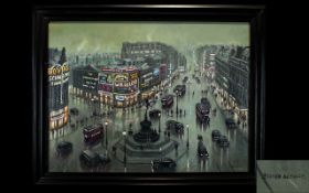 Steven Scholes born 1952. Titled Piccadilly Circus London 1956 no 88143, artist titled to reverse of