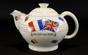 Teapot 'War Against Hitlerism'. Decorat