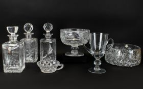 A Collection of Edinburgh Crystal which