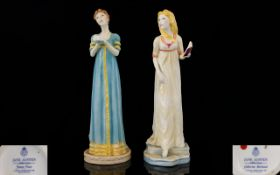 Royal Worcester Hand Painted Pair of Fig