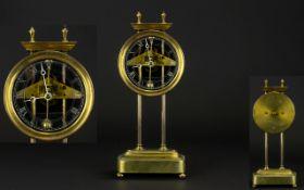 Early 20th Century Brass Gravity Clock.