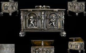 A German Augsberg Silver Jewellery Caske