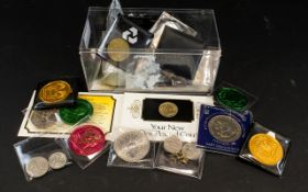 A Collection Of Mixed Coins And Notes Lo
