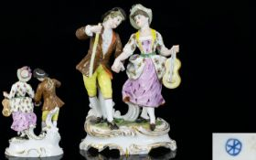 Hochst Hand Painted Porcelain Figure Gro