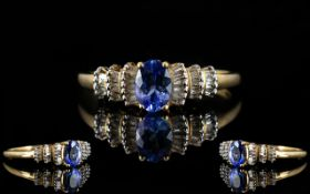 9ct Yellow Gold And Tanzanite Ring Conte