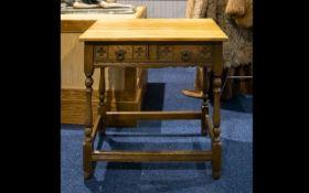 A Two Drawer Desk Oak desk of rustic for