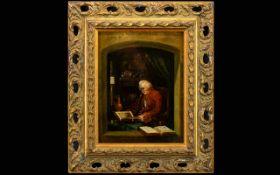 Unsigned 19th Century Portrait, a man dr