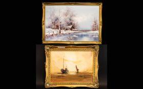 Oil On Canvas Signed 'Striccoli' Depicti