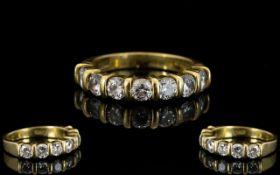 18ct Yellow Gold Diamond Set Half Eterni