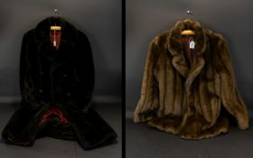 Faux Fur Jacket in Rich Brown Colour size 12 - 14, made by Marino Mink, two slit pockets.