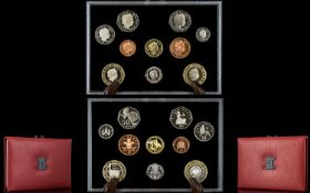 Royal Mint 2004 United Kingdom Ltd Edition Proof Coin Collection ( 10 ) Coins.