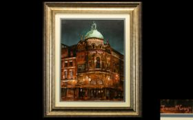 Francis McCrory (Irish b. 1983) Oil On Board 'The Grand Theatre Blackpool' Artist signed to bottom