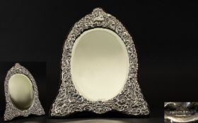 Victorian Period Style Large and Impressive Excellent Quality Embossed Silver Framed Dressing