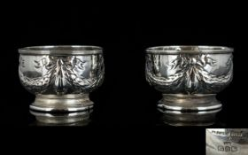 Victorian Period - Nice Matched Pair of Silver Salts,