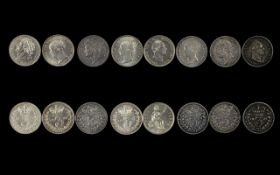 A Very Good Collection of English Silver Threepences From George III to Victoria.