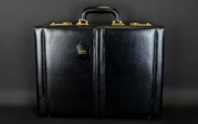 Gentleman's Calf Leather Briefcase With Combination Lock And Fitted Stationary Interior.
