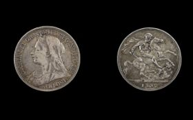 Victoria Old Head Silver Crown - Date 1897. Please See Photo.