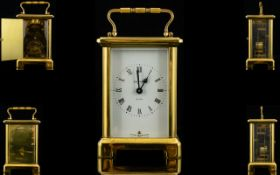 Duverdrey and Bloquel France 8 Day Brass Carriage Clock.