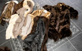 A Collection of Assorted Fur Coats/Jackets various furs and styles, varied condition, large