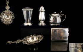 A Small Collection of Silver Items From Early to Mid 20th Century.