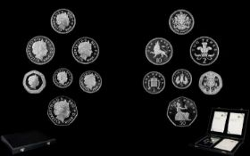 Royal Mint Ltd and Numbered Edition 2008 United Kingdom Coinage 'Emblems of Britain' Silver Proof