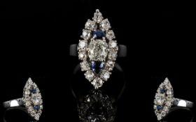 18ct Diamond Cluster Ring,