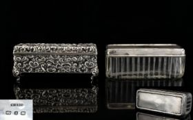 Late Victorian Silver Dressing Table Box, Of Rectangular Form,