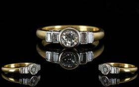 Contemporary Designed Nice Quality Diamond Set Dress Ring,
