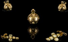 Masonic 9ct Gold Puzzle Ball / Pendant with Silver Interior. Fully Hallmarked - Please See Photo. 3.