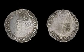King Charles 1st Hammered Silver Shilling Dated 1603-1625. Nice coin, good tone. 5.5 gms weight.