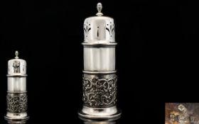 Art Nouveau Period Superb Quality Silver Sugar Sifter, Wonderful Form,