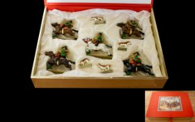A Collection Of Lucotte Pewter Figures 'Chasse Imperiale' Cold painted figures in original fitted
