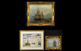 Maritime Interest A Collection Of Three Original Paintings Each framed, each in good condition.