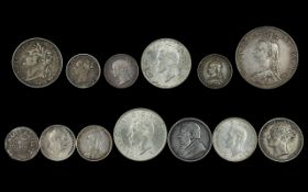 A Collection of English Silver Coins dating from George IV to George V1.