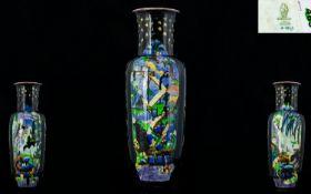 Wedgwood Large And Impressive 1930's Fairyland Lustre Pillar Vase designed by Daisy Makeig Jones