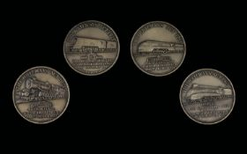 Railways Act 1921 Commemorative Set of Silver Medals (4) Four.