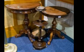 A Small Collection of Occasional Furniture - comprising a console table with frieze drawer,