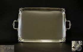 Ollivant and Botsford Superb Quality Solid Silver - Large and Impressive Twin Handle Rectangular
