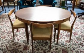 Mid Century Teak Dining Suite By Greaves and Thomas - compromising an oval extending table together