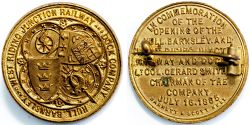 Hull Barnsley and West Riding Junction Railway and Dock Company Commemorative Opening Day medal