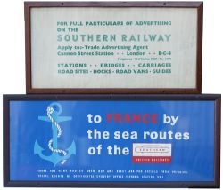 Carriage Print TO FRANCE BY THE SEA ROUTE OF THE SOUTHERN BRITISH RAILWAYS (SOUTHERN)