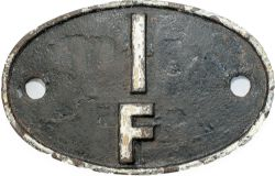 Shedplate 1F RUGBY 1963 - 1968, has had some restoration over original paint at some point some of