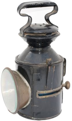 LNER GER pattern sliding knob 3 aspect handlamp stamped in the reducing cone LNE-E YARMOUTH VAUX GDS