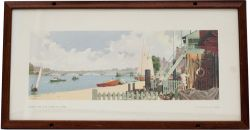 Carriage Print LONDON, RIVER THAMES, PUTNEY by A J Wilson from the LNER Post-War Series, around