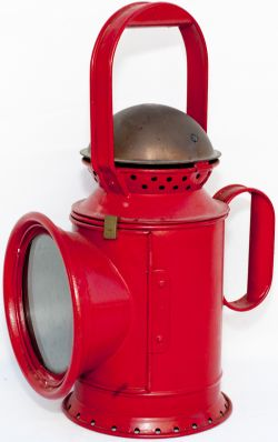 GWR 3 aspect pre grouping coppertop handlamp complete with GWR etched glass and front cowl, GWR Z
