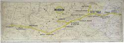 METROPOLITAN LINE, LONDON UNDERGROUND Carriage Route Diagram Panel dated 1937, Aylesbury & Chesham