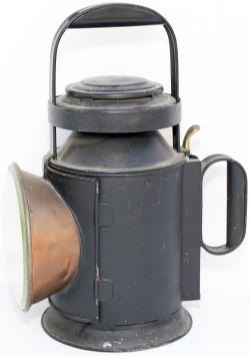 North British Railway 3 aspect guards handlamp stamped 2194 INVERESK and NBR BULLPITT AND SONS