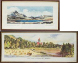 A pair of carriage prints both from the BR Scottish Region series. SCHIEHALLION, NEAR KINLOCH