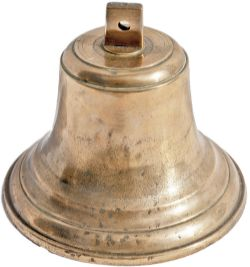 Brass Ships bell stamped NER Co twice on the top. On the inside rim are details of the ship it was