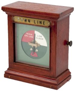 LNER/GNR mahogany cased single line repeater brass plated DOWN LINE. In very good Condition,